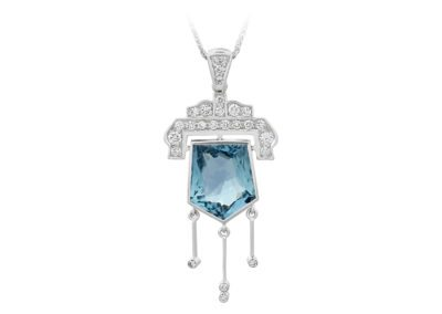 18ct Aquamarine & Diamond