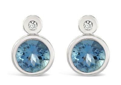 18ct Aquamarine & Diamond