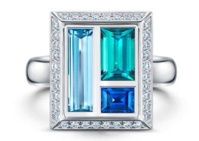 Indiglite, Aquamarine & Blue Sapphire