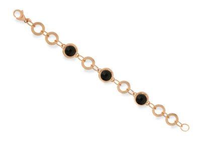 Faceted link bracelet